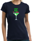 Ladies Navy Friends Don't Let Friends Drive Drunk - Pun Drinking Humor Golf T-shirt