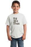 Youth White I'd Hit That! - Sex Joke Golf Humor Golfer Funny Double Meaning T-shirt