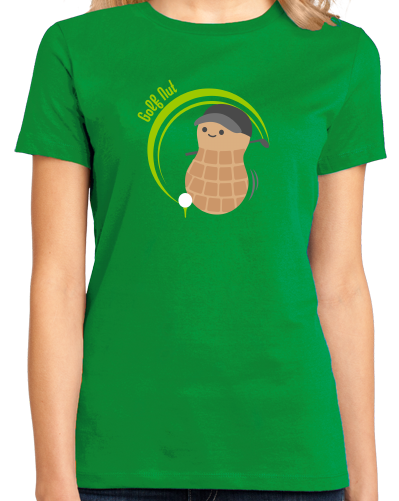 Ladies Green Golf Nut - Cute Golf Golfer Funny Hipster Father's Day T-shirt