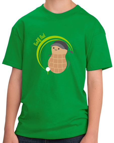 Youth Green Golf Nut - Cute Golf Golfer Funny Hipster Father's Day T-shirt