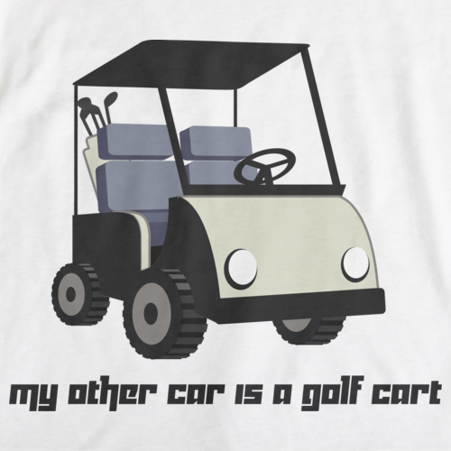 My Other Car is a Golf Cart White art preview