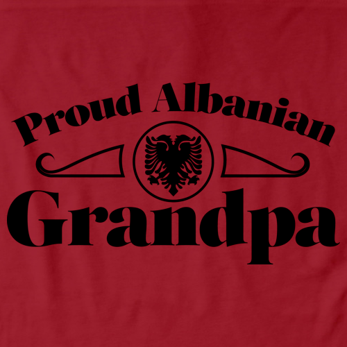 Proud Albanian Grandpa | Albania Pride Red Art Preview