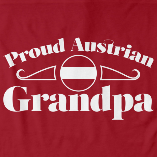 Proud Austrian Grandpa | Austria Pride Red Art Preview