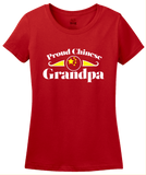 Ladies Red Proud Chinese Grandpa - China Pride Heritage Chinese Grandpa T-shirt