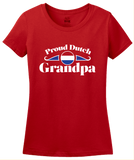 Ladies Red Proud Dutch Grandpa - Netherlands Pride Dutch Heritage Grandpa T-shirt