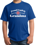 Youth Royal Proud English Grandma - England Pride British Heritage Grandma T-shirt