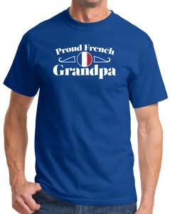 Standard Royal Proud French Grandpa - France Pride French Heritage Grandpa Gift T-shirt
