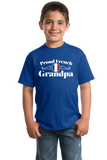 Youth Royal Proud French Grandpa - France Pride French Heritage Grandpa Gift T-shirt