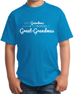 Youth Aqua Blue Great Grandmas Get Promoted… - Great Grandma Gift Funny Cute