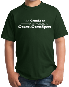 Youth Forest Green Great Grandpas Get Promoted… - Great Grandfather Grandpa Funny