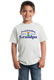 Youth White Proud Indian Grandpa - India Pride Indian Heritage Grandpa T-shirt
