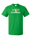 Standard Green Proud Irish Grandma Shield - Irish Pride Grandmother Heritage T-shirt