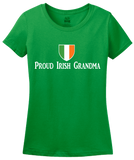 Ladies Green Proud Irish Grandma Shield - Irish Pride Grandmother Heritage T-shirt