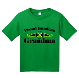 Youth Green Proud Jamaican Grandma - Jamaican Pride Grandma Mother's Day T-shirt