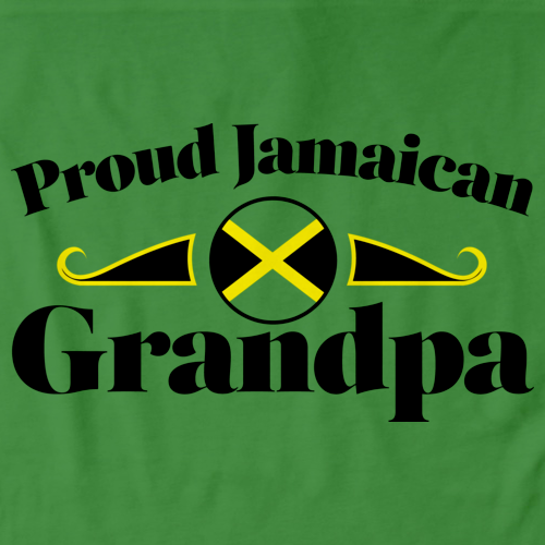 Proud Jamaican Grandpa | Jamaica Pride Green Art Preview