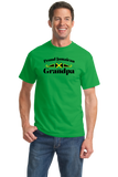 Standard Green Proud Jamaican Grandpa - Jamaican Pride Grandpa Father's Day T-shirt