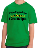 Youth Green Proud Jamaican Grandpa - Jamaican Pride Grandpa Father's Day T-shirt