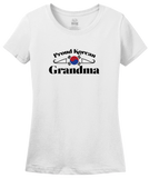 Ladies White Proud Korean Grandma - Korea Pride Korean Grandma Heritage Gift T-shirt
