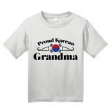 Youth White Proud Korean Grandma - Korea Pride Korean Grandma Heritage Gift T-shirt