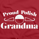 Proud Polish Grandma | Poland Pride Red Art Preview