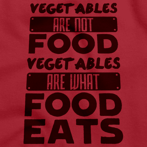 28af3430fc ... Pride Funny Carnivore T-shirt · Vegetables are what Food Eats | Meat  Eater Red art preview