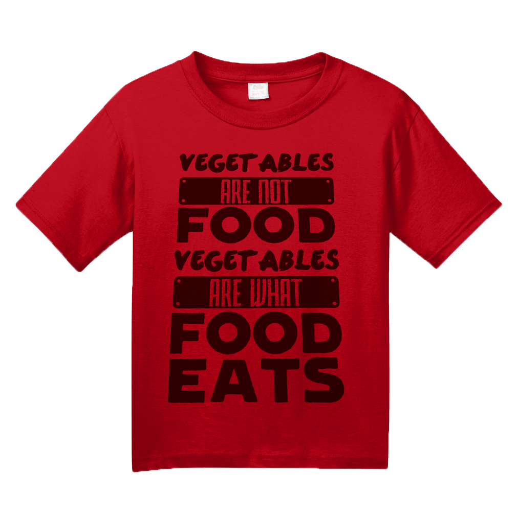 d52104aaef ... Youth Red Vegetables Are What Food Eats - Meat Eater Pride Funny  Carnivore T-shirt ...