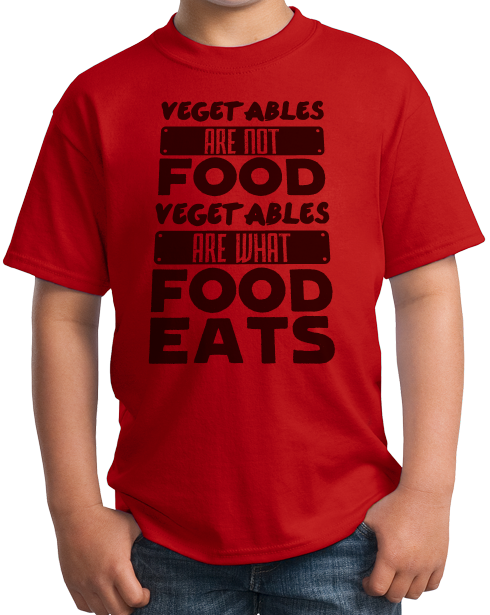 Youth Red Vegetables Are What Food Eats - Meat Eater Pride Funny Carnivore T-shirt