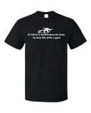 Standard Black Takes A Well-Behaved Man To Buy Wife Gun - Gun Lover Wife Funny T-shirt