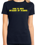 Ladies Navy Dog Is Nice, Beware Of Owner - Dog Owner Gun Joke 2nd Ammendment T-shirt