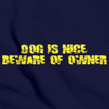 DOG IS NICE, BEWARE OF OWNER Navy art preview
