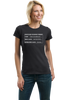 Ladies Black 2nd Amendment Gun Permit - Gun Rights Lover Freedom Fun T-shirt