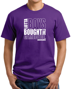 Unisex Purple Lotta Boys Bought the Gamecube T-shirt