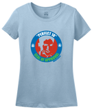 Ladies Light Blue Perfect 10 Seal of Approval T-shirt