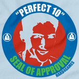 Perfect 10 Seal of Approval Light blue Art Preview