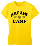 Girly Yellow Harand Theatre Camp Collegiate Style Navy Print T-shirt
