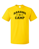 Unisex Yellow Harand Theatre Camp Collegiate Style Navy Print T-shirt