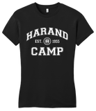 Girly Black Harand Theatre Camp - Collegiate Style White Print T-shirt
