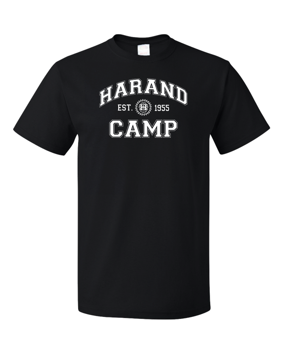 Standard Black Harand Theatre Camp - Collegiate Style White Print T-shirt