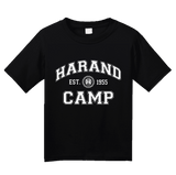 Youth Black Harand Theatre Camp - Collegiate Style White Print T-shirt