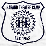 Harand Theatre Camp - Full Chest Navy Shield Logo White Art Preview