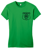 Girly Green Harand Theatre Camp - Left Chest Navy Shield Logo T-shirt