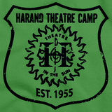 Harand Theatre Camp - Left Chest Navy Shield Logo Green Art Preview