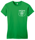 Girly Green Harand Theatre Camp - Left Chest White Shield Logo T-shirt