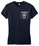 Girly Navy Harand Theatre Camp - Left Chest White Shield Logo T-shirt