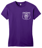 Girly Purple Harand Theatre Camp - Left Chest White Shield Logo T-shirt
