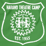 Harand Theatre Camp - Left Chest White Shield Logo Green Art Preview
