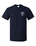 Standard Navy Harand Theatre Camp - Left Chest White Shield Logo T-shirt