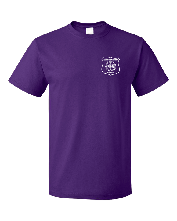 Standard Purple Harand Theatre Camp - Left Chest White Shield Logo T-shirt