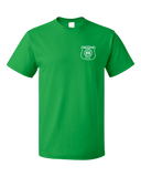 Unisex Green Harand Theatre Camp - Left Chest White Shield Logo T-shirt