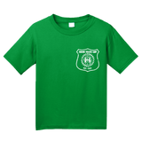 Youth Green Harand Theatre Camp - Left Chest White Shield Logo T-shirt